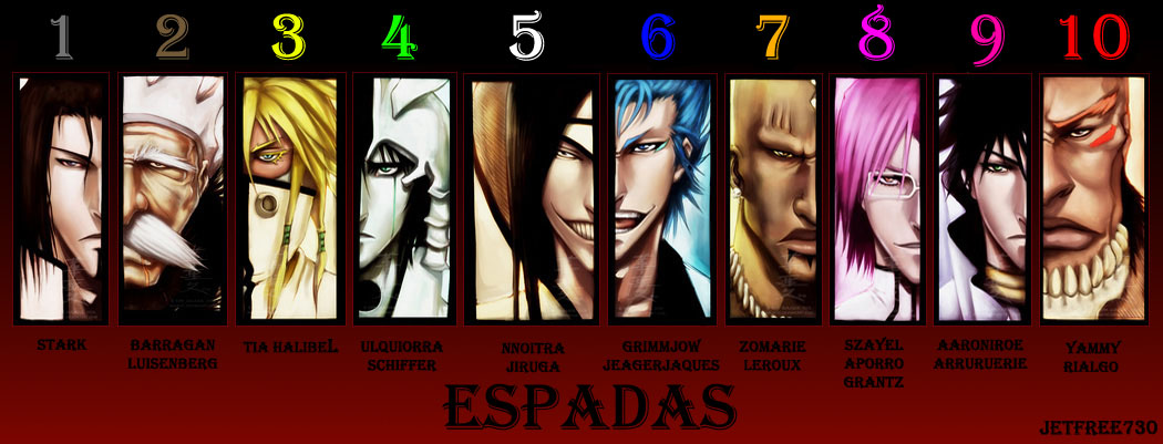 TEN ESPADAS OF AIZEN by jetfree730