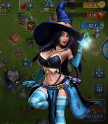 Witch girl by Ainama