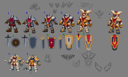 Human race. Warrior concept by Ainama