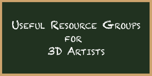 Resource Groups for 3D Artists by Cymae