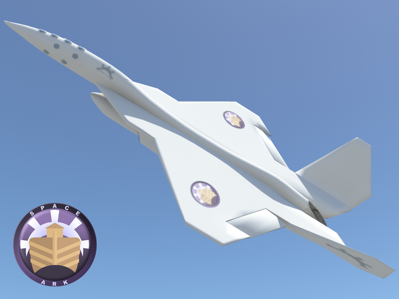 KER-111 Space Plane for Kerbal Space Program by Cymae