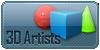 Current 3dartists logo by Cymae