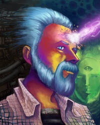 Phillip K. Dick Portrait by d4rkl1gh7