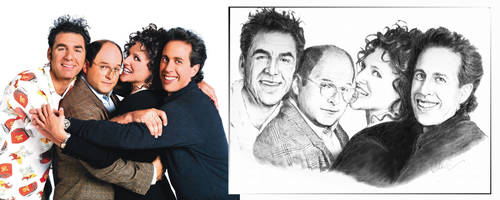 seinfeld and friends by dalecogan