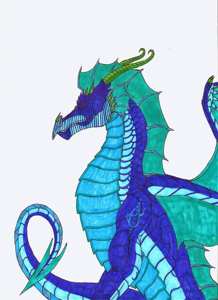 Elegant Aquadragon by crescentwolf01
