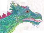 European Dragon, Head by crescentwolf01