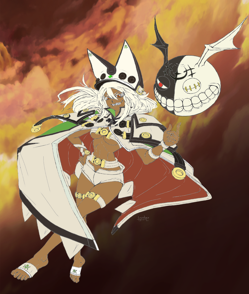 Guilty Gear Wallpaper: Guilty Gear Xrd Ramlethal Line Art (colored) By Kiteazure