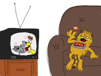 Garfield Watching Porn by DOWANT