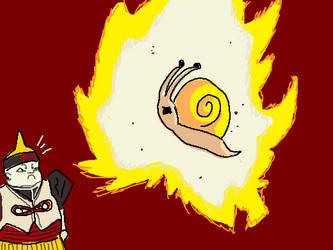 Snail Going SUPER SAIYAN by DOWANT