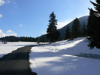 Road to Vlkolinec by nwinder