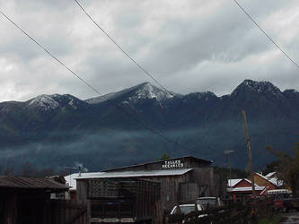 Cloudy day in the Andes