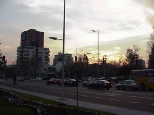 Sun Setting In Santiago