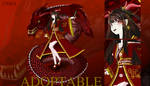 [OPEN]Auction GX#02 Half red dragon girl by torushiro