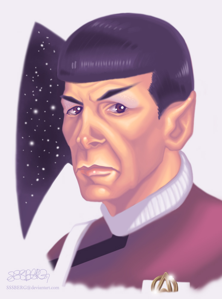 Leonard Nimoy As Spock by sssberg