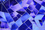 Mosaic Texture in Blue Glass