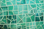 Mosaic Texture Green Tile by chamberstock