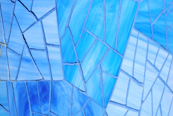 Mosaic Texture in Blue Glass 2