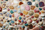 Mosaic of Multicolored Stones
