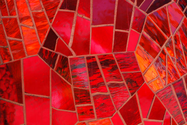 Mosaic of Red Glass by chamberstock