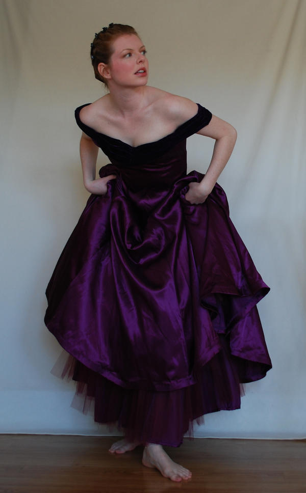 Purple Dress Stock by chamberstock