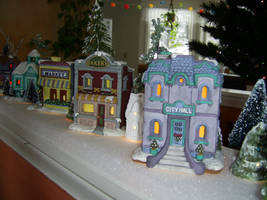 Winter Village Stock by chamberstock