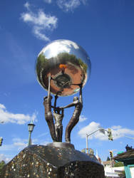 Silver Ball Sculpture 2