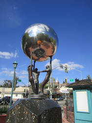 Silver Ball Sculpture 3