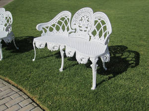 White Bench Stock 1
