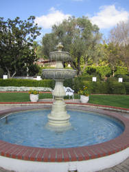 Garden Fountain stock by chamberstock