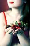 Cherry flavoured heart