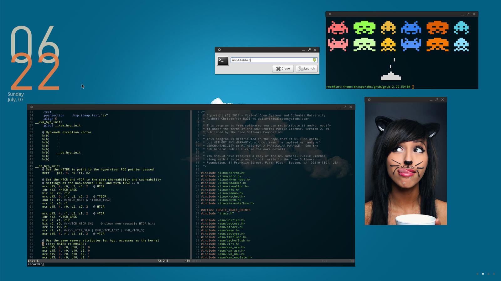 ... screenshots unix linux 2013 2015 int001h arch linux desktop july 2013