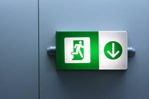 Fire exit below