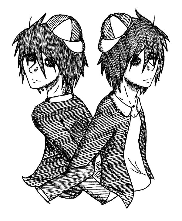 L and B, The Tweedle Twins by Keeper-of-souls
