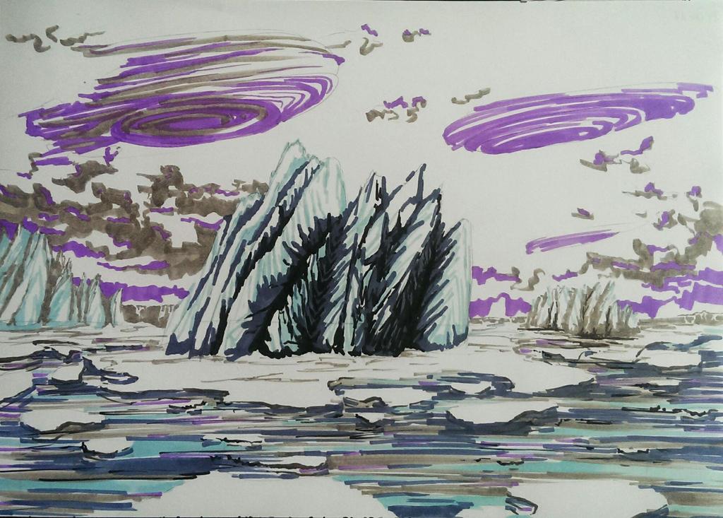 Frozen landscape by Gokoz