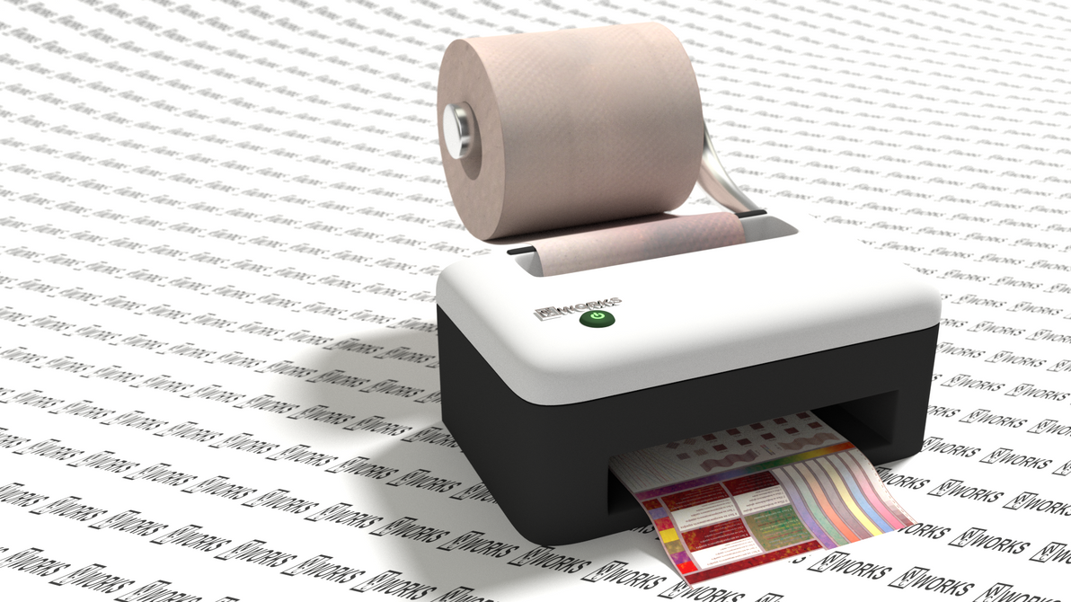Toilet Paper Printer by littlelightcz