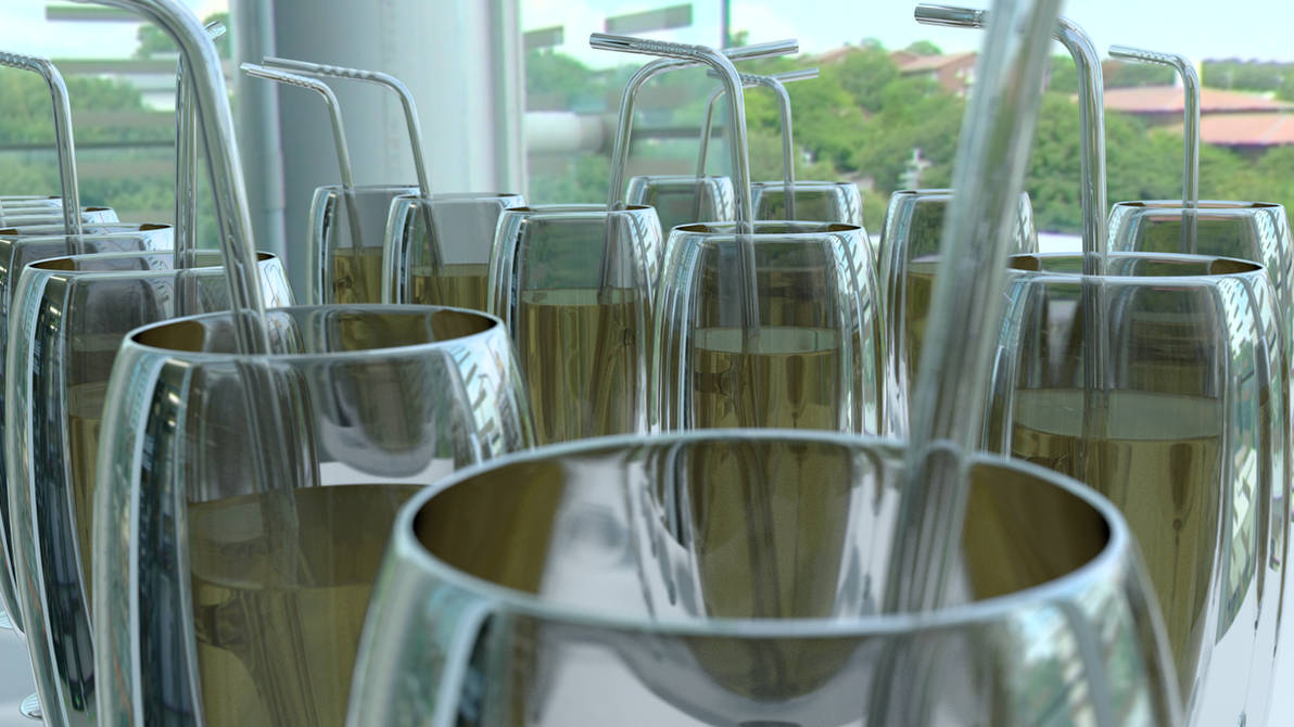 Glass With A Built-in Straw by littlelightcz