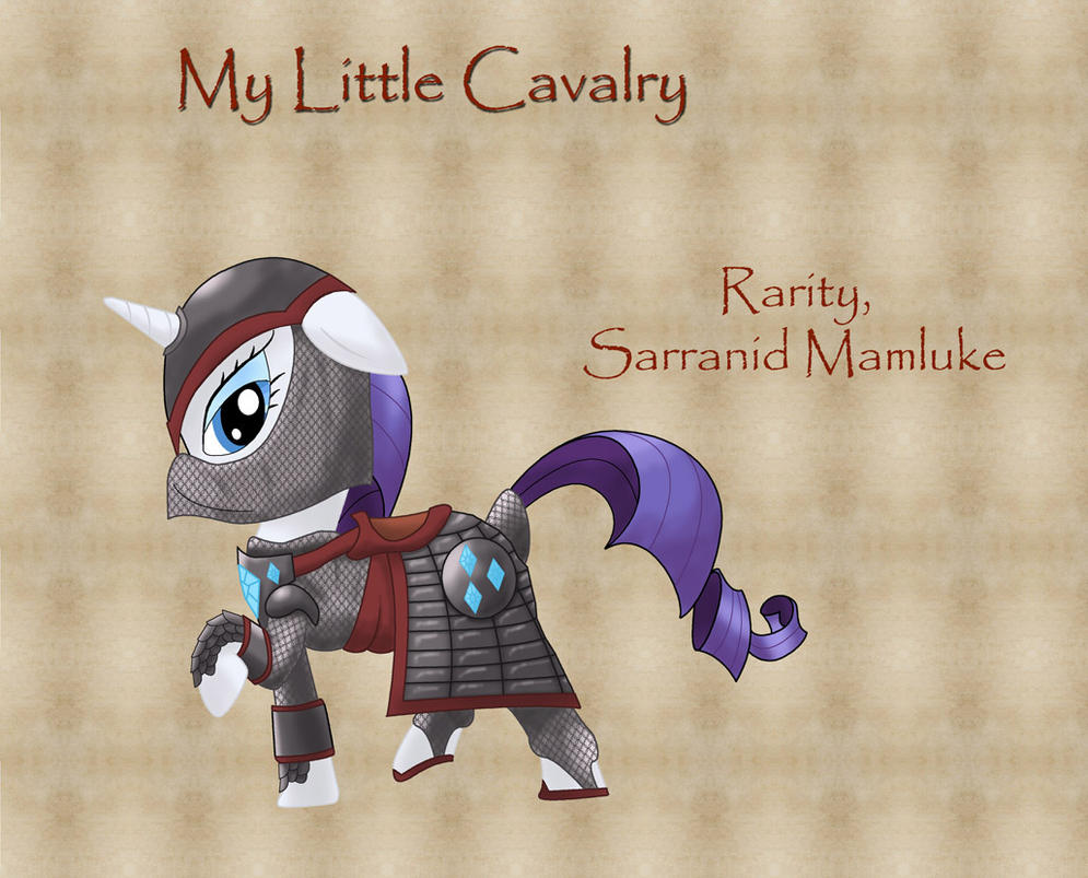 My Little Cavalry- Rarity by Nimbostratus