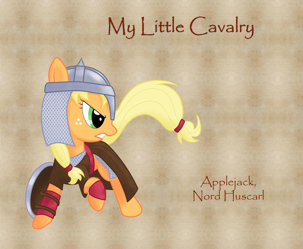 My Little Cavalry- Applejack by Nimbostratus