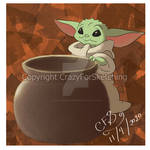 Baby Yoda by CrazyForSketching90