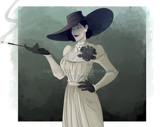 Lady Dimitrescu 2 by CrazyForSketching90