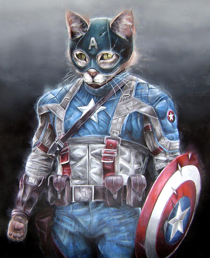AVENGERS: Captain Ameowicat by CAMERON1395