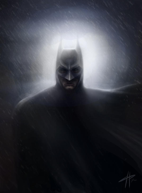 BATMAN (iPad) by CameronHarperArt