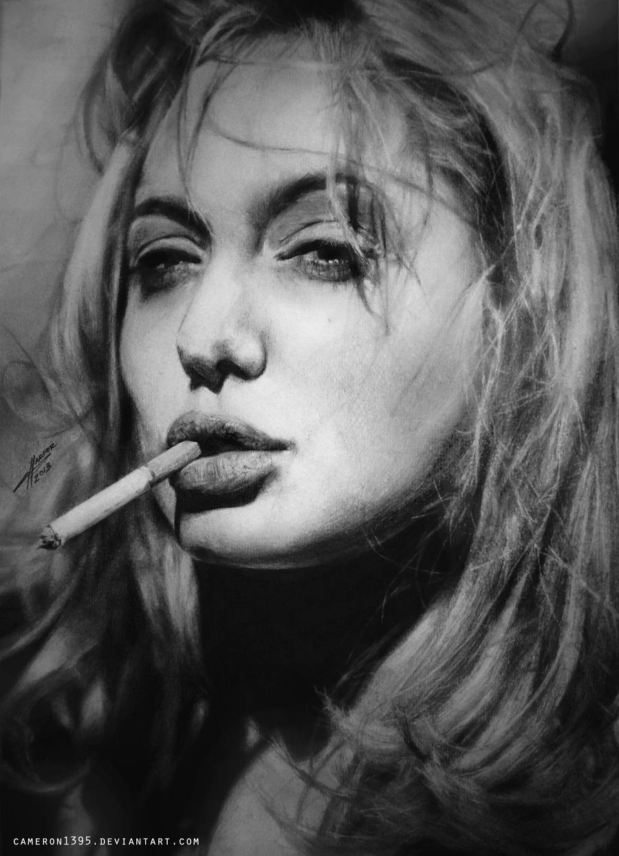Angelina Jolie. by CameronHarperArt