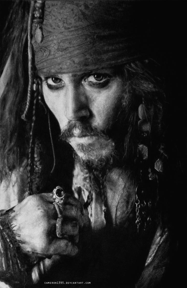 Captain Jack Sparrow. by CameronHarperArt