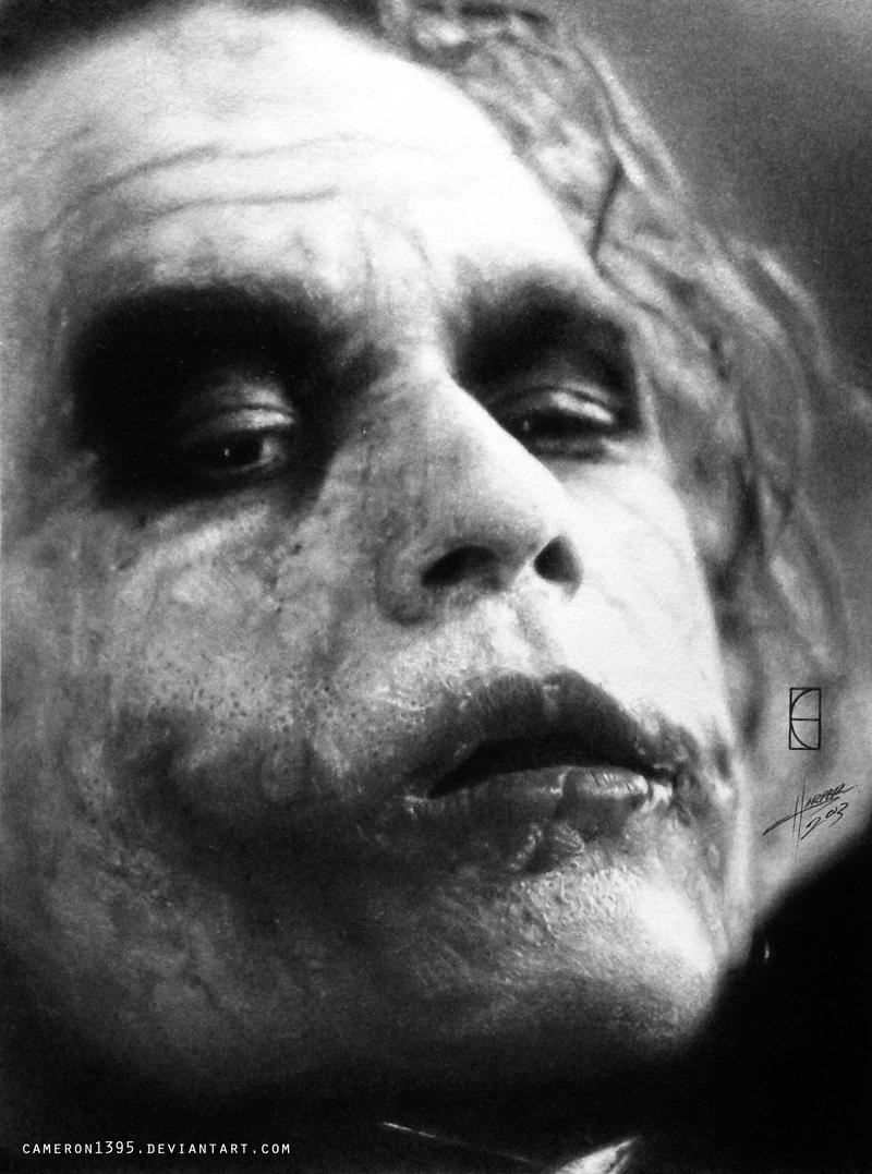 Heath Ledger's Joker. by CameronHarperArt