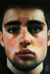Self Portrait - acrylics. by CameronHarperArt