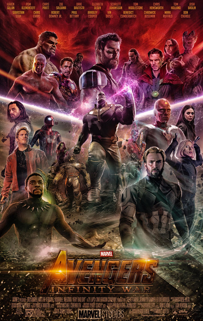 avengers infinity war poster 2018 by ralfmef on deviantart