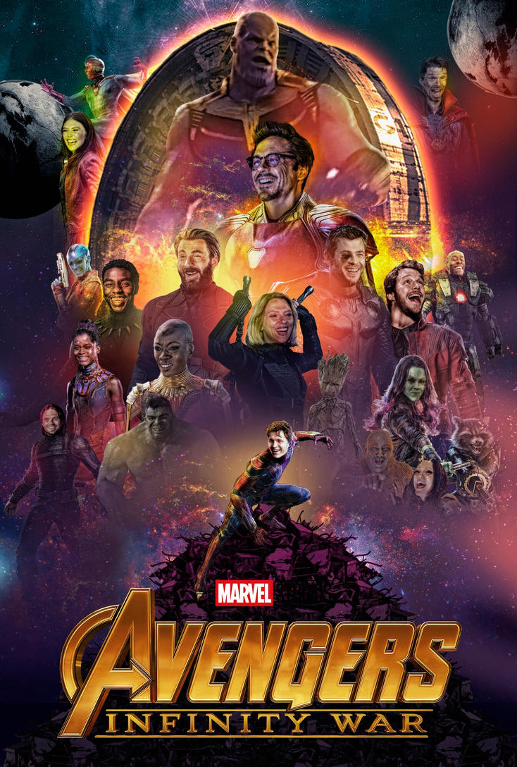 avengers infinity war poster lol at thanos by ralfmef on deviantart