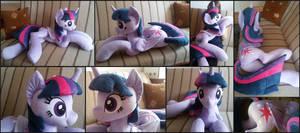 Lifesize Twilight Sparkle laying plush