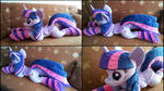 Lifesize Twilight Sparkle plush with socks